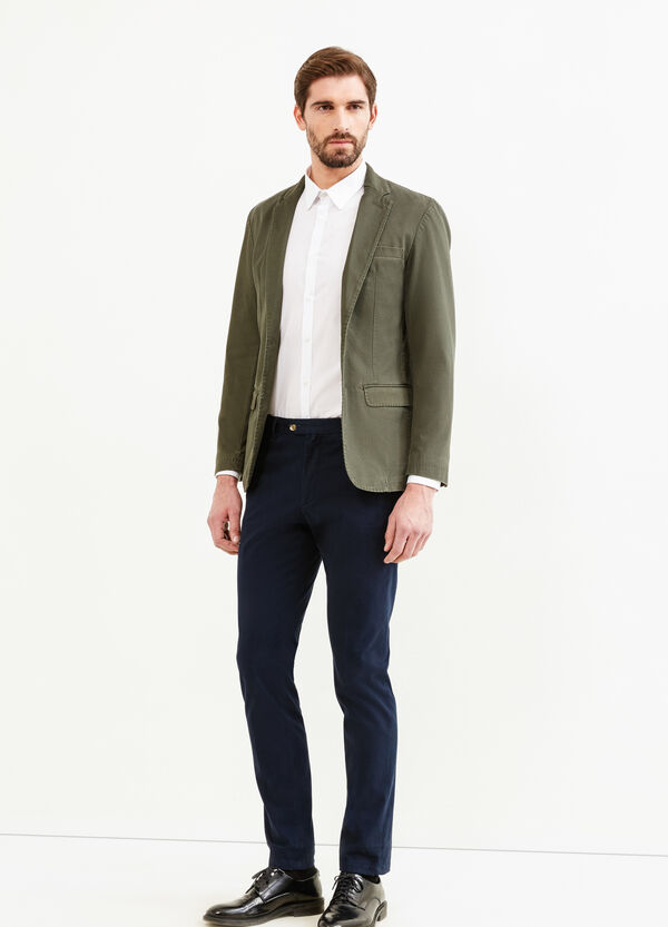 Elegant cotton jacket with two buttons | OVS