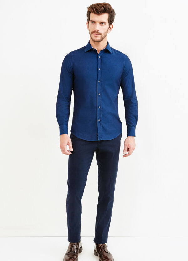 Solid colour slim-fit Rumford shirt | OVS