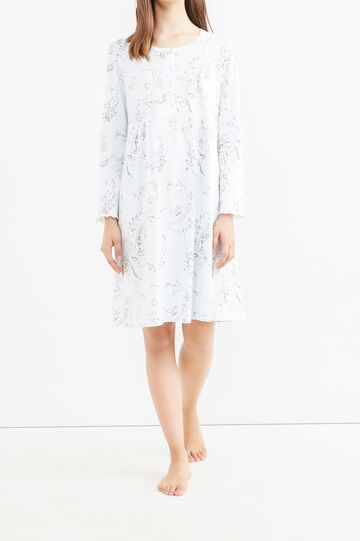 Nightshirt with paisley pattern, White, hi-res