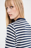 Striped pattern polo shirt in 100% cotton, Ocean Blue, hi-res