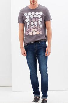 T-shirt con stampa fotografica, Grigio, hi-res