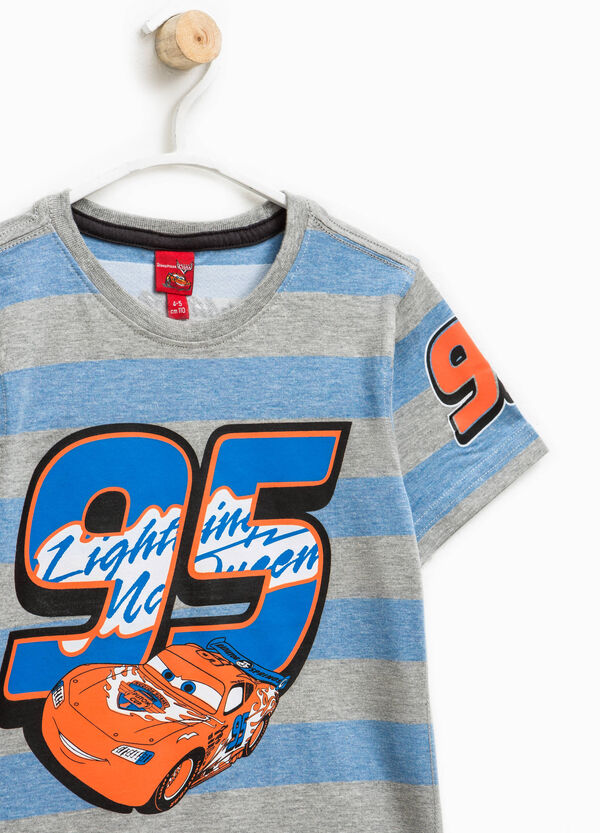 T-shirt a righe con stampa Cars | OVS