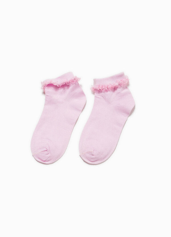 Short stretch socks with flounces | OVS