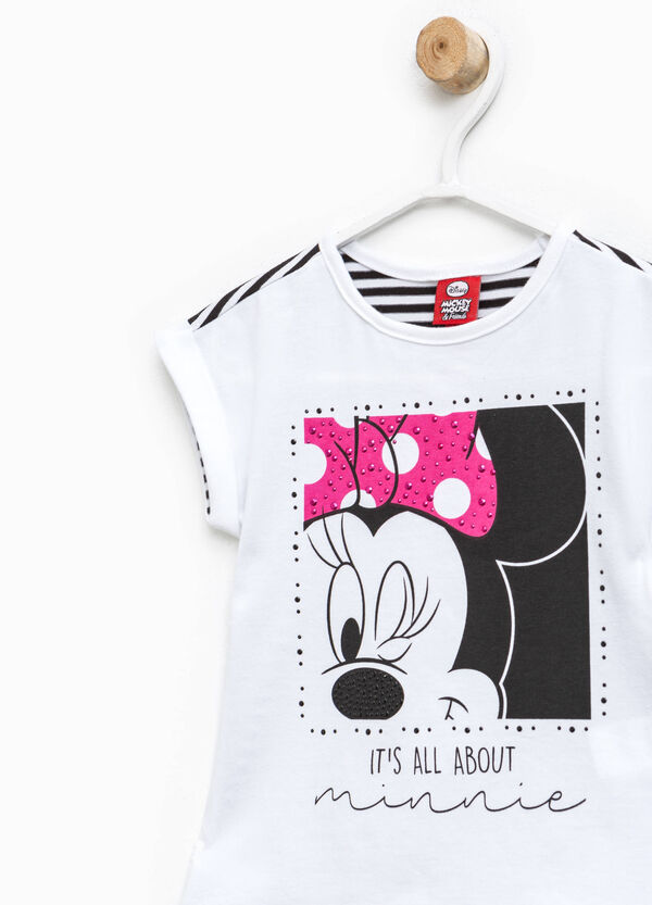 T-shirt with striped back and Minnie Mouse print | OVS