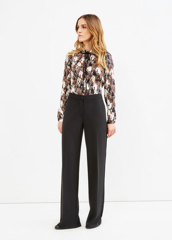 Pantaloni con banda laterale in velluto | OVS