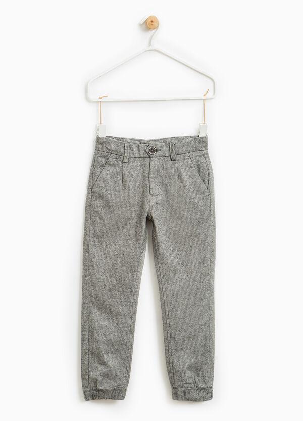 Pantaloni puro cotone micro fantasia | OVS