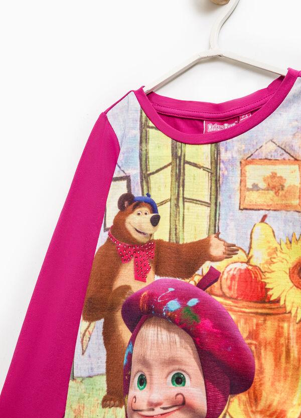 T-shirt with maxi Masha and the Bear print | OVS