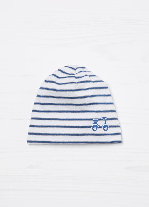 Cappello a cuffia a righe in cotone | OVS