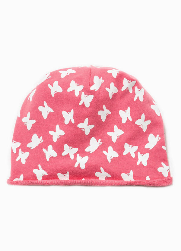 Beanie cap with butterfly pattern | OVS