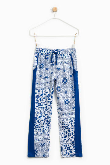 All-over floral print trousers