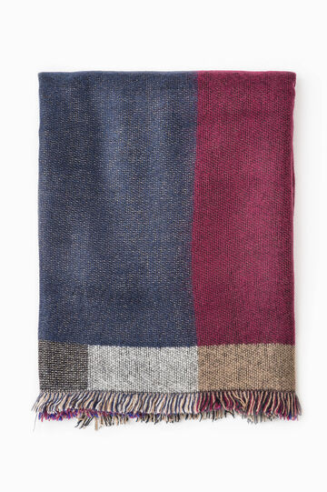 Patterned scarf in contrasting colour, Multicolour, hi-res