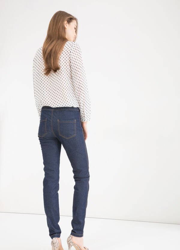 Stretch cotton blend jeggings | OVS