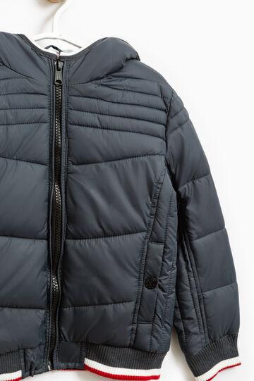 Bomber jacket with hood and zip, Grey, hi-res
