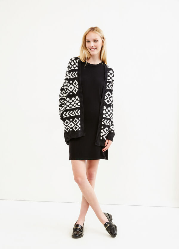 Patterned knitted cardigan | OVS
