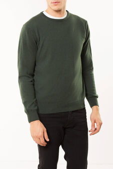 Pullover in cashmere, Verde muschio, hi-res
