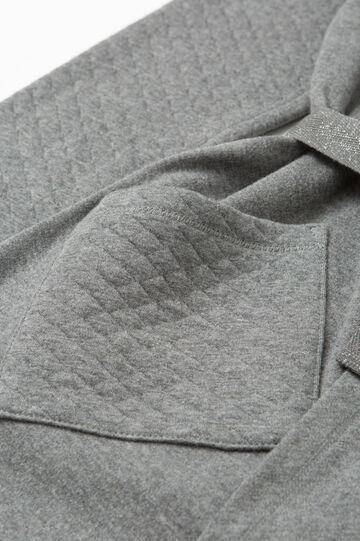Vestaglia cotone trama a rombi, Grigio melange, hi-res