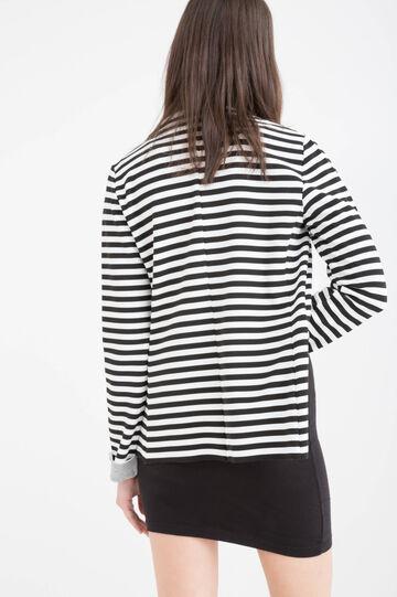 Striped stretch blazer, White/Black, hi-res