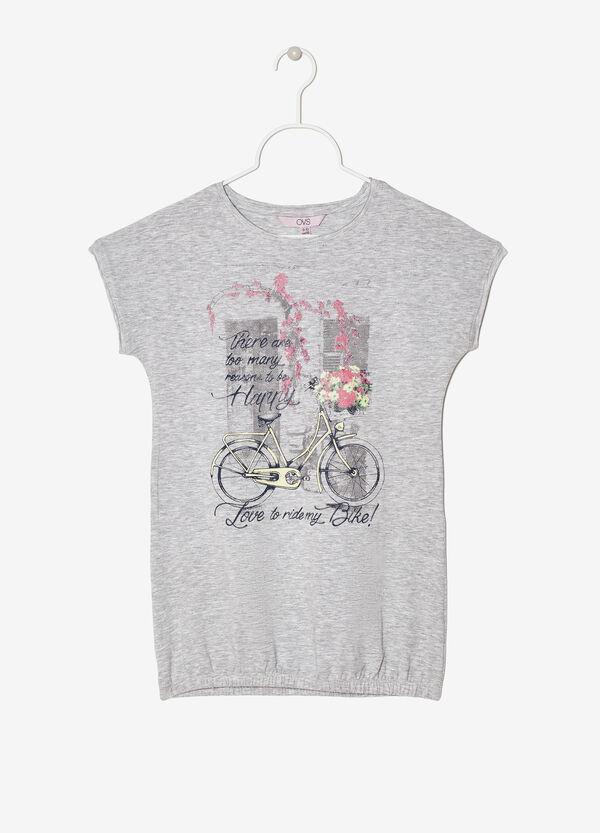 T-shirt stretch con stampa | OVS