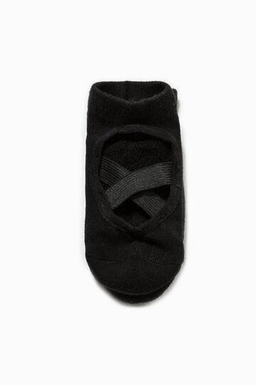 Slipper socks with elastic bands, Black, hi-res