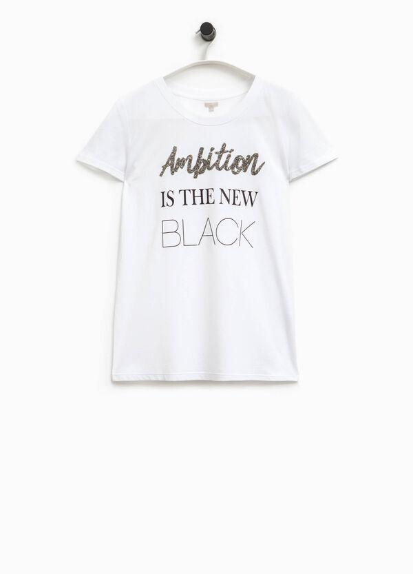 T-shirt stampa lettering Smart Basic | OVS