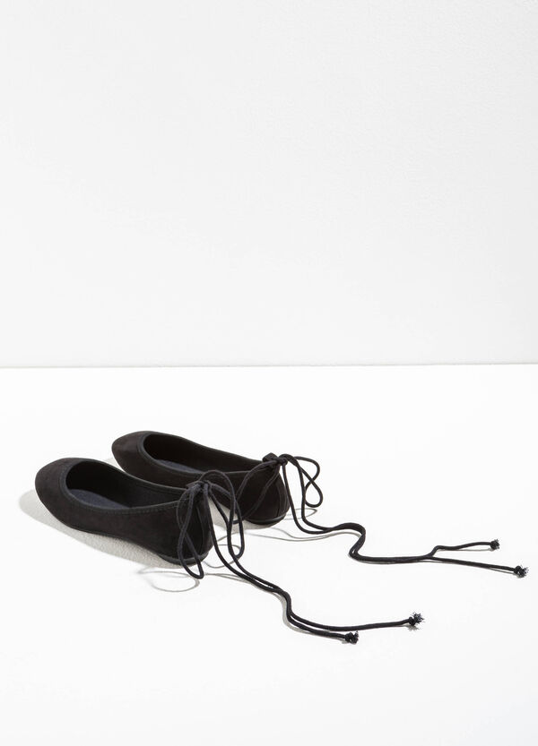 Ballerina flats with laces on the back | OVS