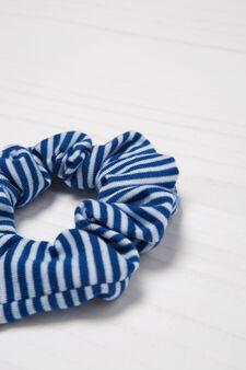 Striped pattern hair band, Blue, hi-res
