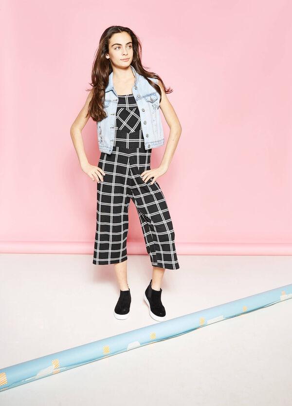 Gilet di jeans con strappi e ricami Teen | OVS