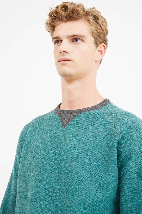 Jersey en pura lana virgen con cuello redondo | OVS