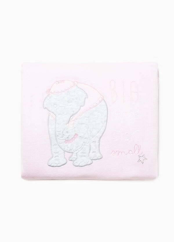 Blanket one side with Dumbo patch and one patterned side | OVS