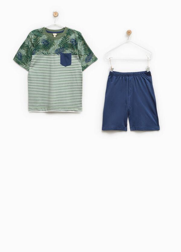 100% Biocotton pyjamas with flowers and stripes | OVS