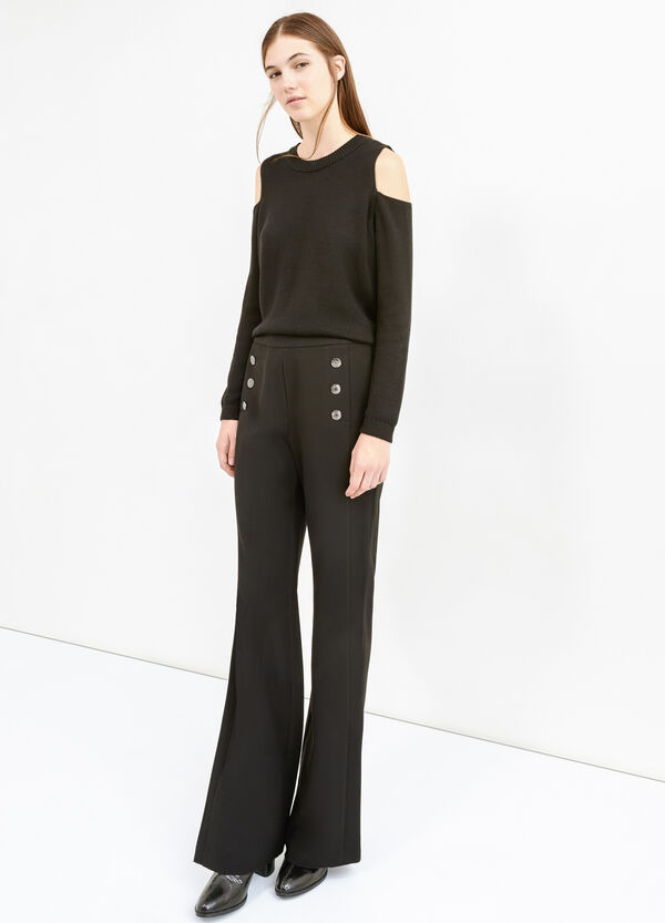 Trousers with buttons and side zip | OVS