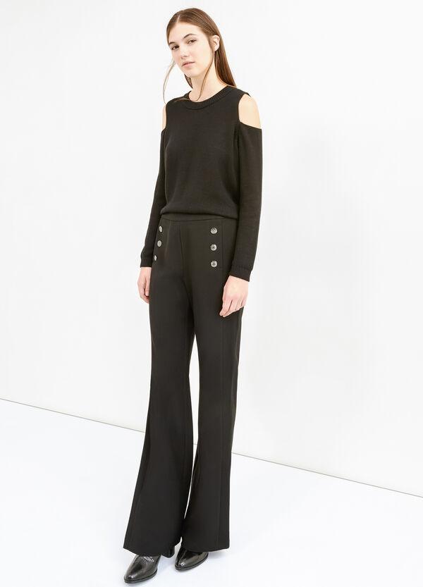 Pantaloni con bottoni e zip laterale | OVS
