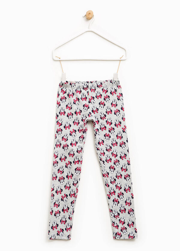Stretch cotton Minnie Mouse leggings | OVS