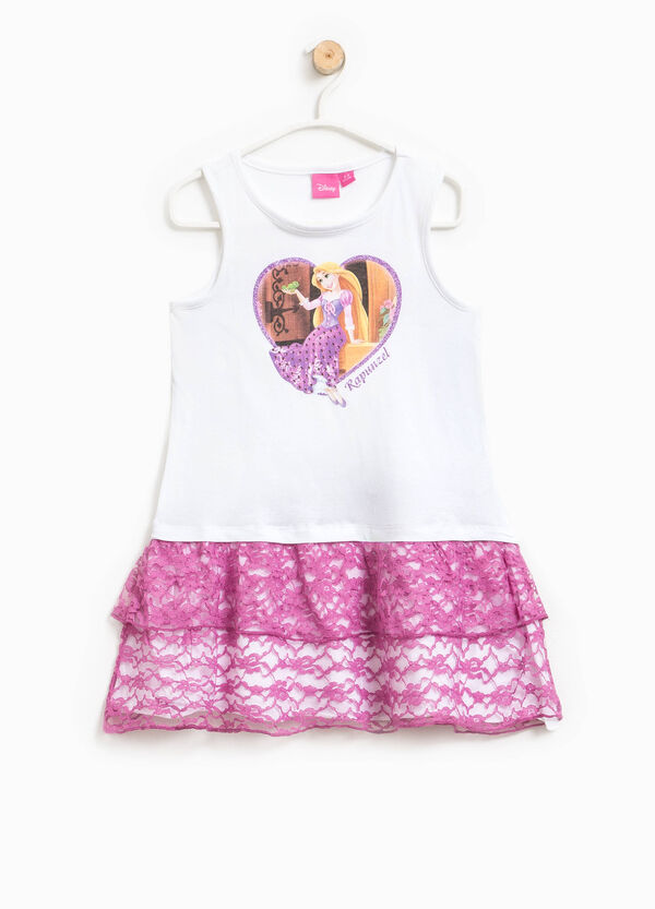 Dress with lace and Rapunzel print | OVS