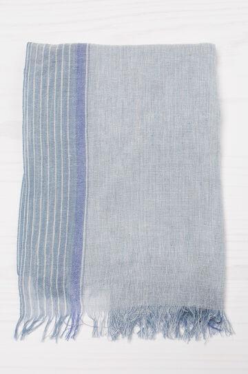 Patterned viscose pashmina, Light Blue, hi-res