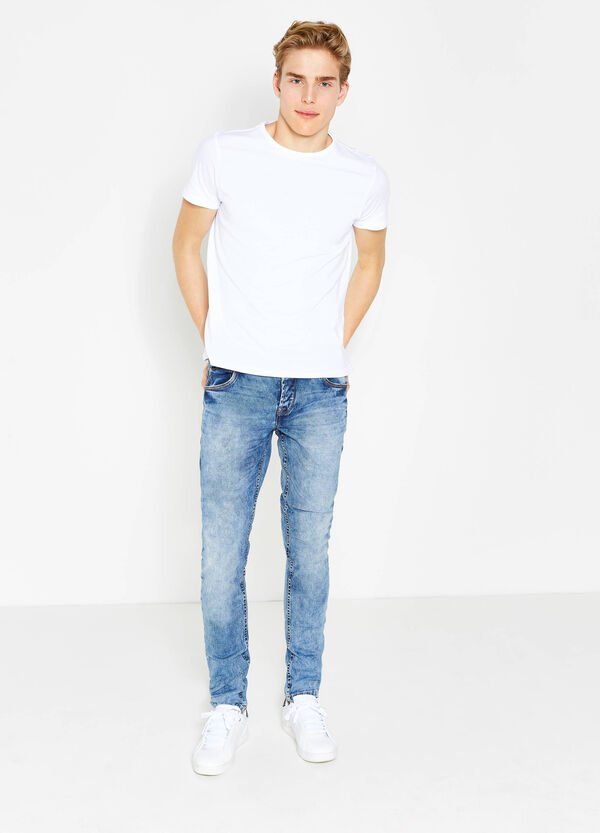 Jeans skinny fit stretch effetto maltinto | OVS