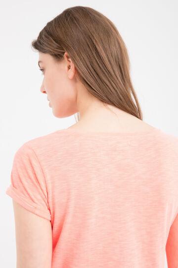 100% cotton T-shirt with pocket, Orange, hi-res