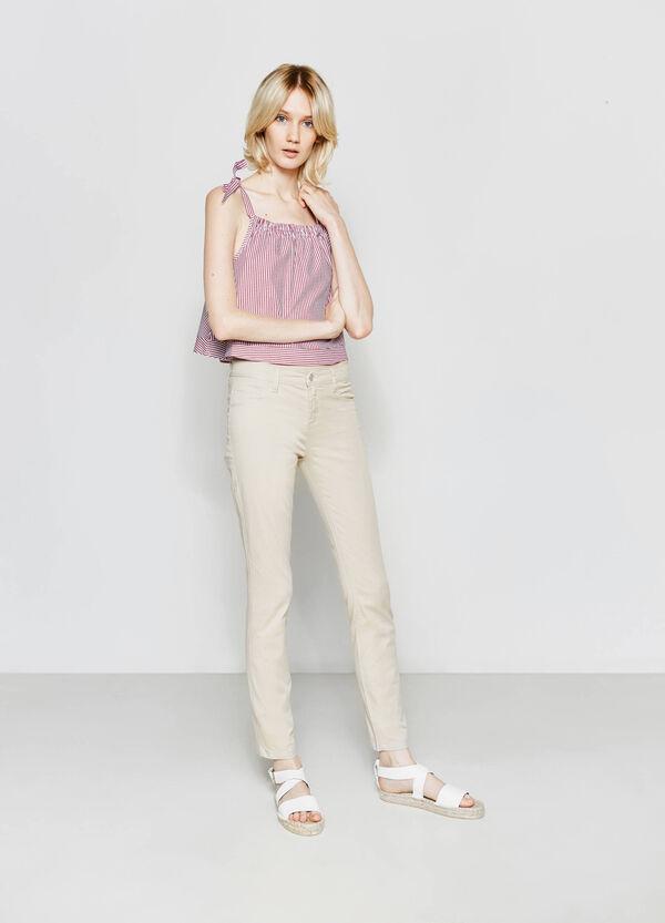 Pantalón de algodón elástico | OVS
