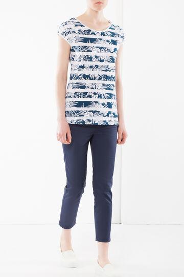 Visual decoration T-shirt, Blue, hi-res