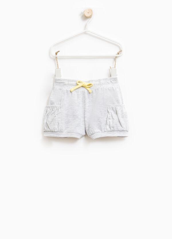 Shorts en algodón elástico con cordón de ajuste | OVS
