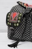Ethnic pattern cotton backpack, Multicolour, hi-res