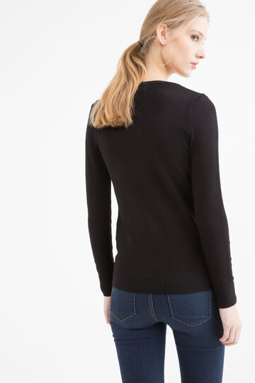 Viscose blend cardigan, Black, hi-res