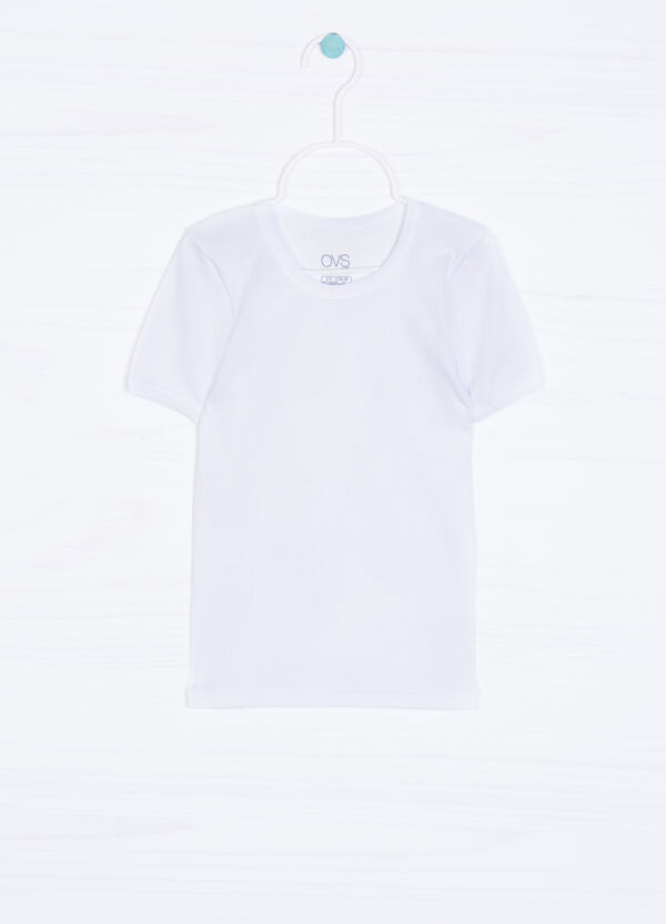 Solid colour undershirt in 100% cotton. | OVS