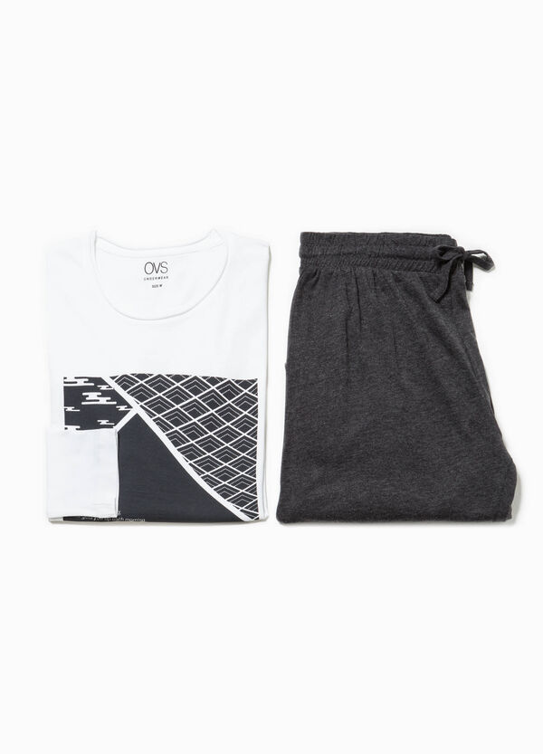 100% cotton pyjamas with raw edges | OVS