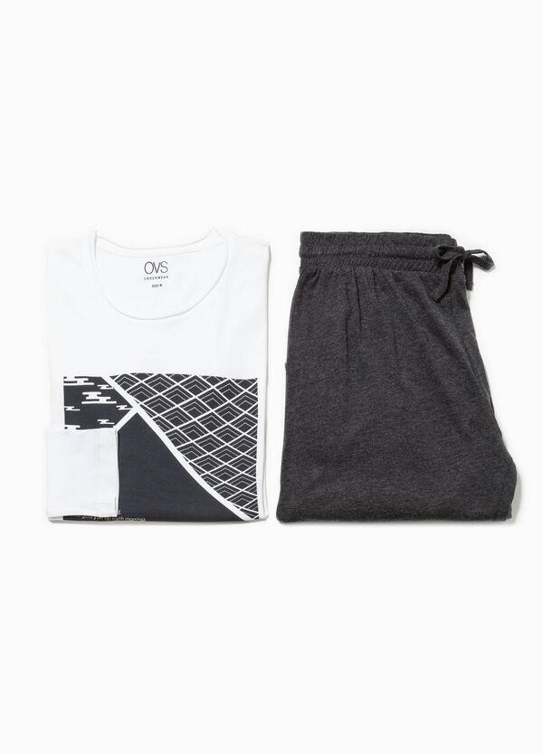 Pijama en algodón 100% con bordes sin rematar | OVS