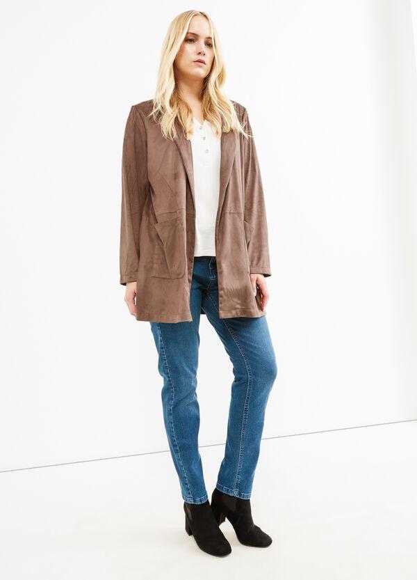 Curvy leather-look suede jacket | OVS