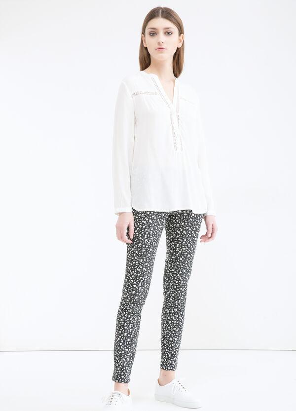 Pantaloni misto cotone fantasia | OVS