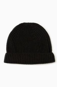 Cappello cuffia cashmere, Nero, hi-res