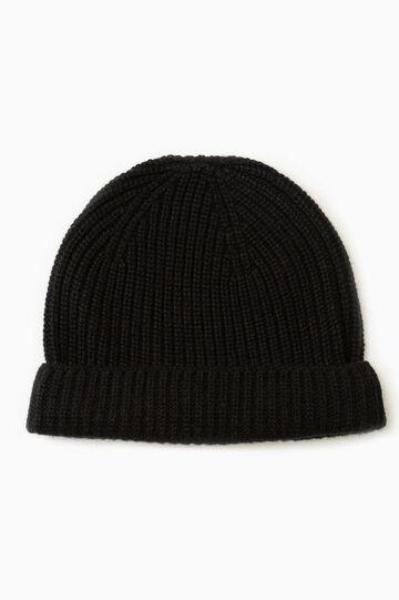 Cashmere beanie cap, Black, hi-res