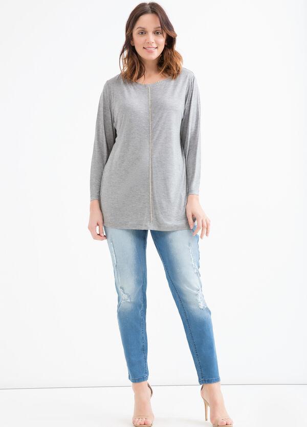 T-shirt pura viscosa strass Curvy | OVS